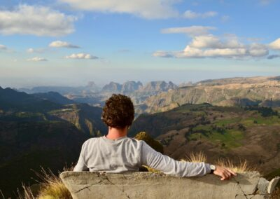 Looking out over Simien Mountains